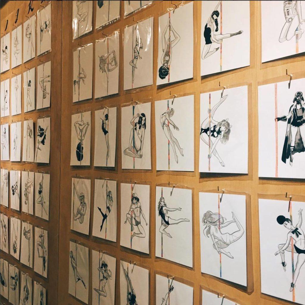 畫展同時會展出一系列以鋼管舞為題的作品。