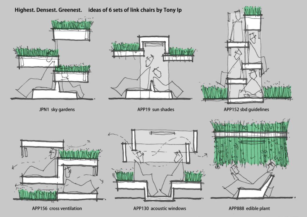 葉頌文亦會設計配合不同綠色建築的模組化傢俬,慳位又創新。