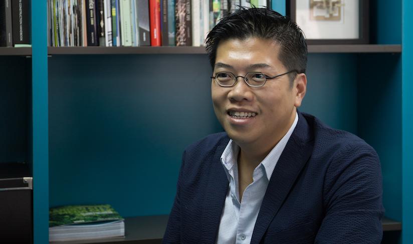 葉頌文當環保建築師已八年,他認為香港綠色建築行業過去發展步伐太慢。