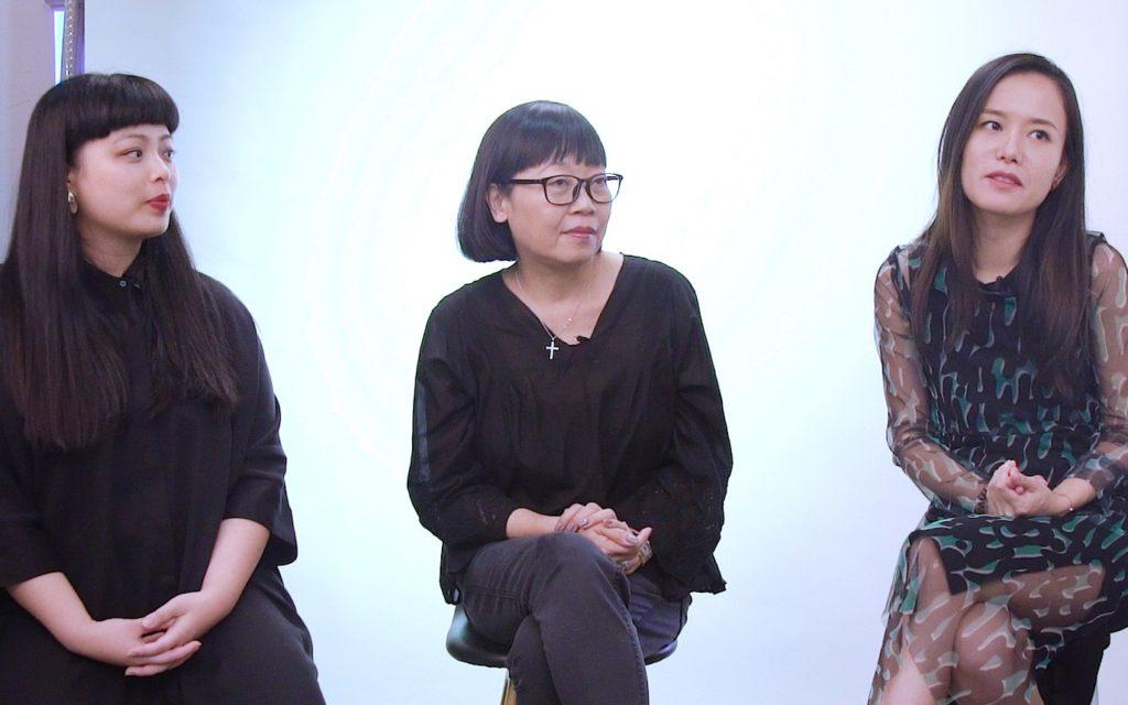 (左起) 香港亞洲電影節節目策劃胡芷晴(Didi)、Golden Scene電影公司董事曾麗芬(Winnie)及新晉導演譚惠貞大談香港及其他地區的女性電影人概況,又推介今年電影節的「女人戲」。