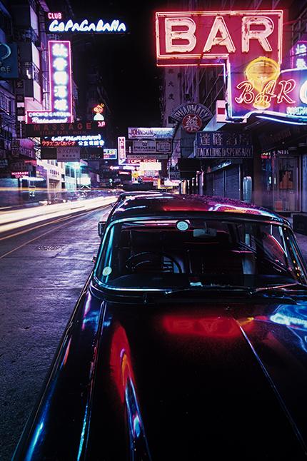 《Neon and Black Jaguar, Hong Kong》, 1975
