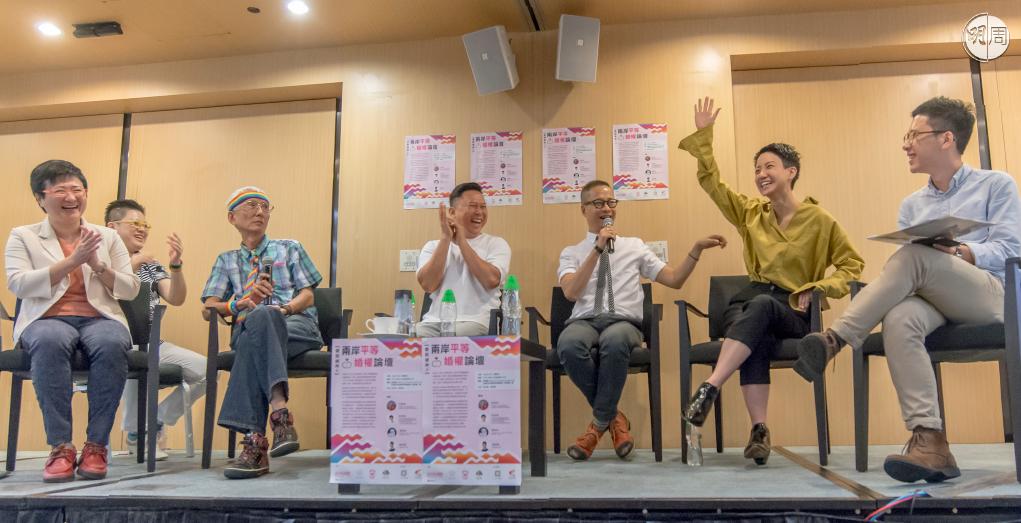 盧凱彤在今年七月出席Pink Dot 舉辦的論壇,舉手表示支持司法覆核。