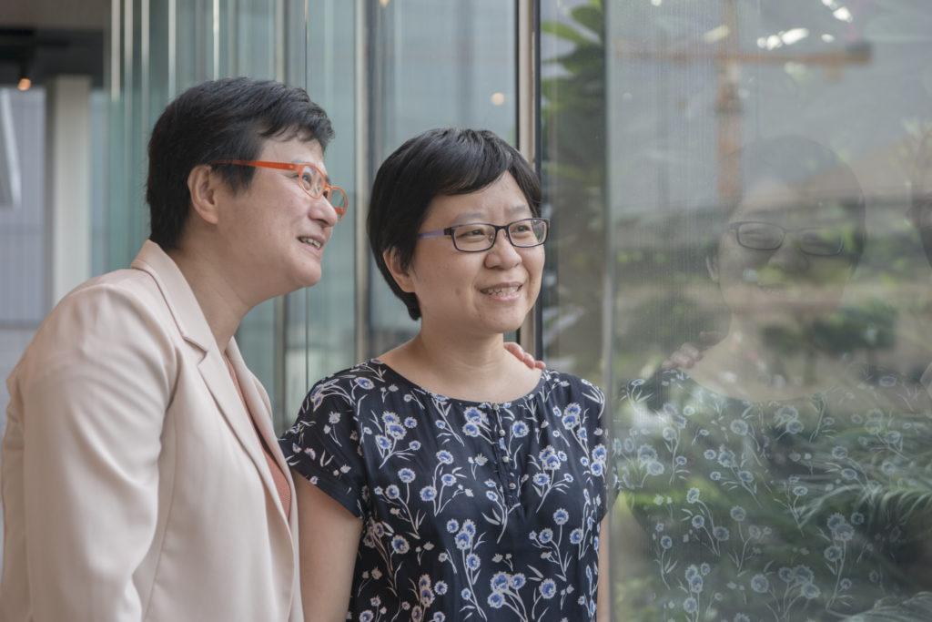許秀雯表示太太簡至潔是平權路上的最重要伙伴,外界常笑稱二人有「妻妻臉」。