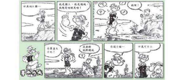 「柏楊案」中,柏楊翻譯的《大力水手》