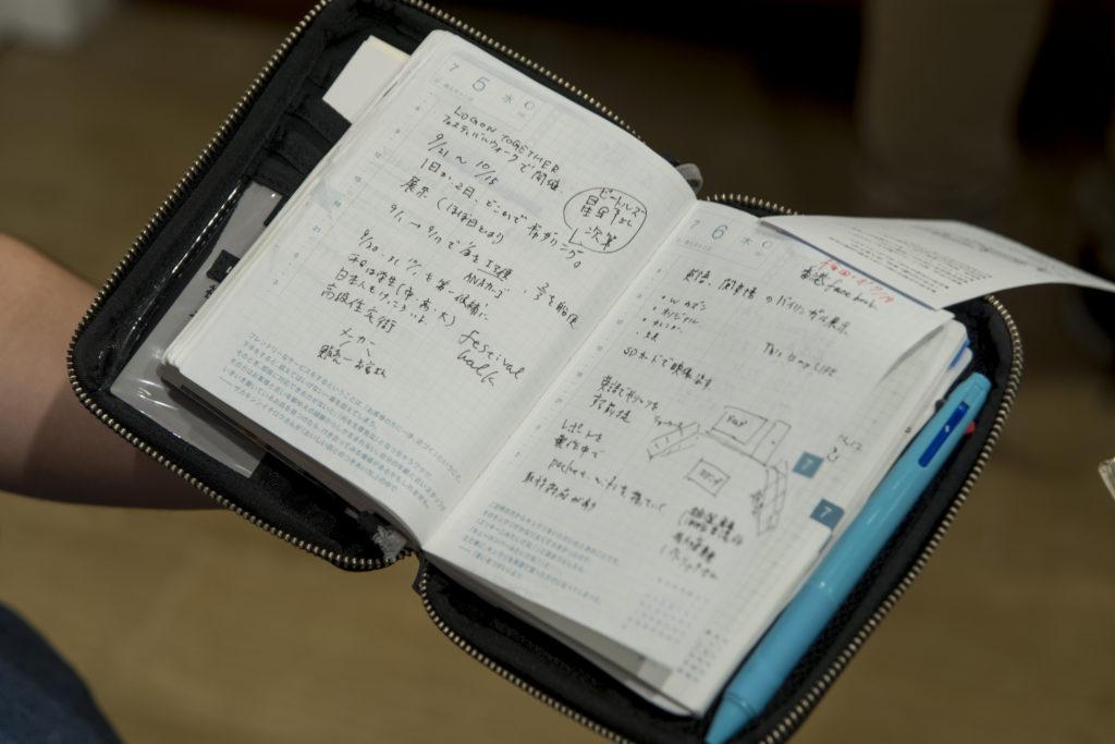 日本人習慣隨身帶着手帳,記錄生活大小事情。