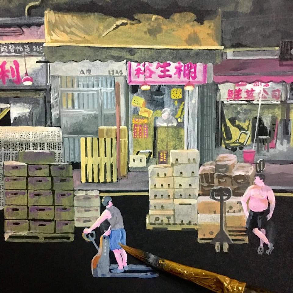 畫集將分成四個部份,第一部份正是以果欄作為切入點。