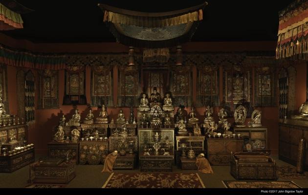 是次在美國的展覽重視佛教在不同地方的實踐,因此設有西藏的神壇,讓觀眾能體驗佛教肅穆的氣氛。