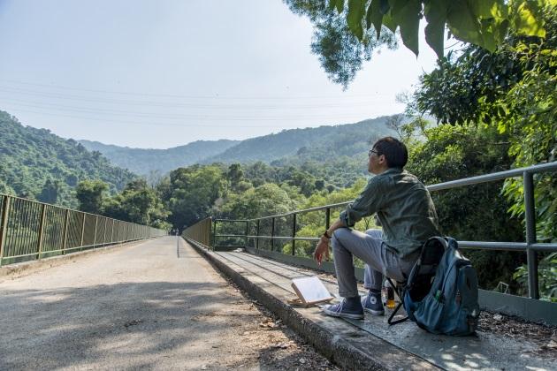 黃進曦坦言行山的旅程也是繪畫的一部分。