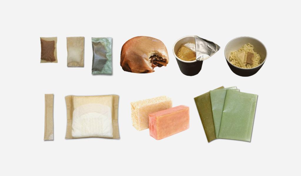 不論是漢堡包、調味包還是肥皂,海藻包裝紙都與一般的無異。