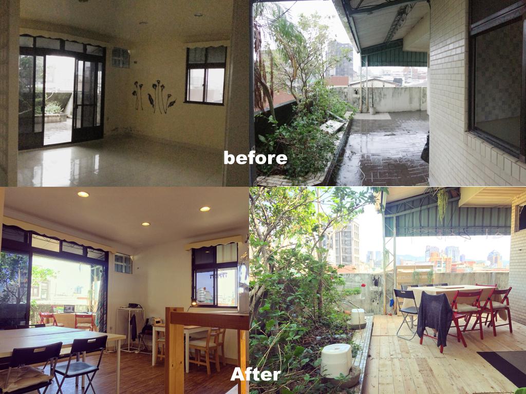 泰順公寓裝修前後的對比鮮明,從前冷冰冰的閒置空間,如今再次充滿家的溫暖。