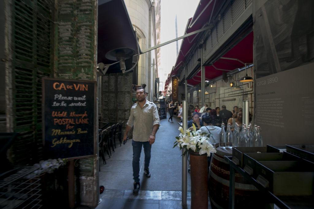 Willy帶我們在市中心飲飲食食,圖為他其中一條最愛的大街Bourke Street。