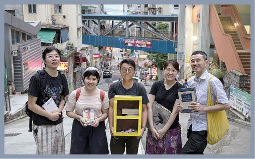 街坊重新上演一場漂書記,(左起)阿超、Judy、劉學成、徐可儀、張朝敦。