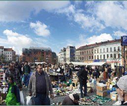 開了近四小時的車過境到比利時邊疆小鎮Bruges,不但陽光普照,還撞正一年只得兩度的超級大型跳蚤市場 ,有「遊客心情」作春藥,無端端見到平時唔吼的今天都無端端性致勃勃。