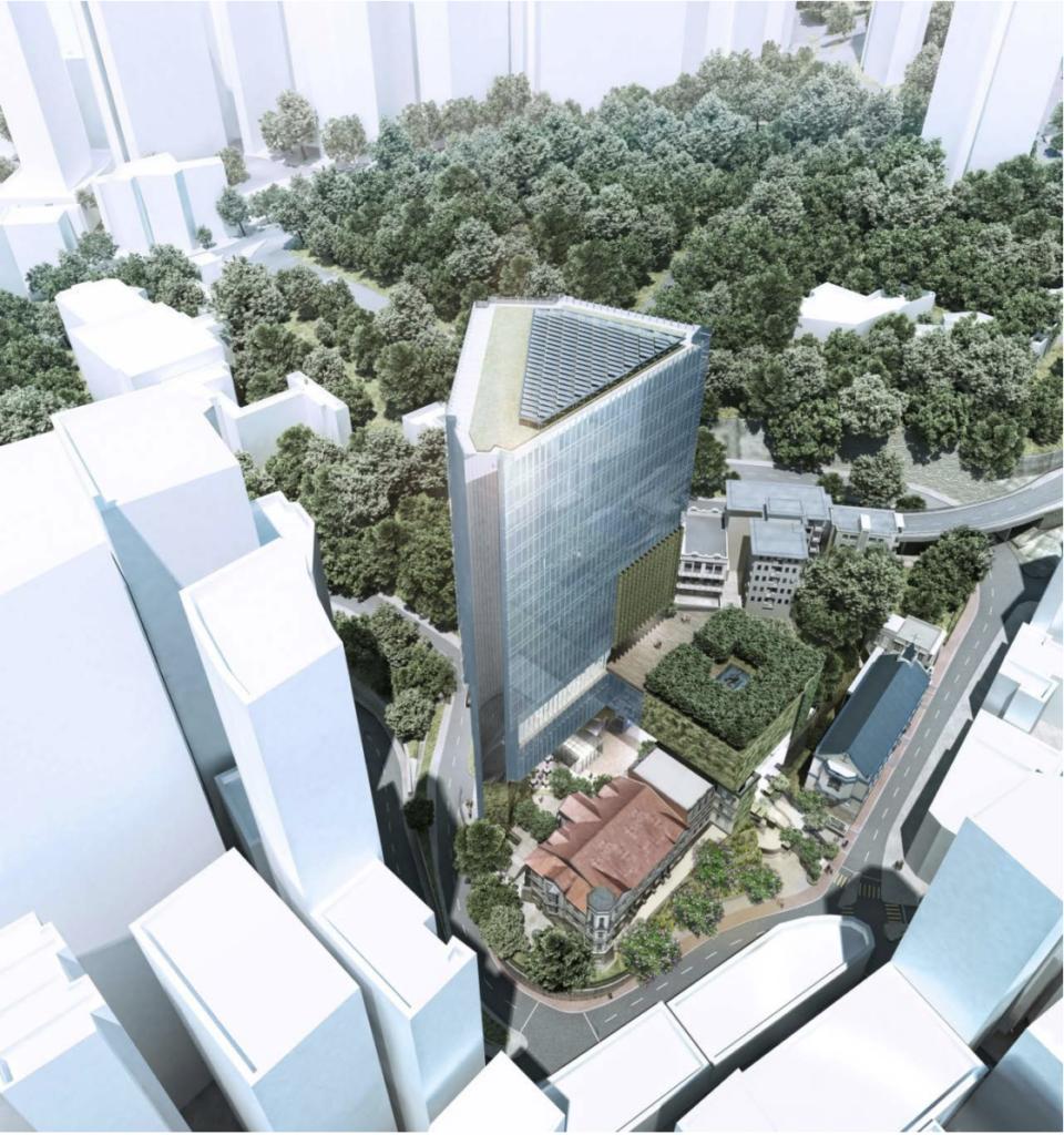 主教山上擬建廿五層高聖公會醫院的構想圖(圖片由作者提供)