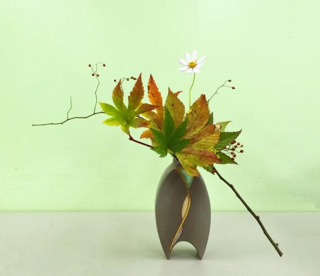 表現秋天風情的自由花,梁偉怡作品。圖片由受訪者提供。