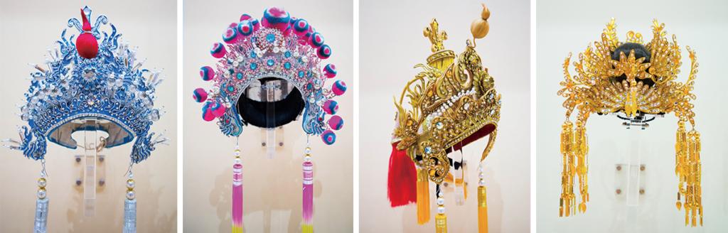 源哥將大半生奉獻予戲曲盔頭創作,作品不計其數,每頂更需動輒十至十五天來製作,一雙巧手每個月就只能出產兩件頭飾。