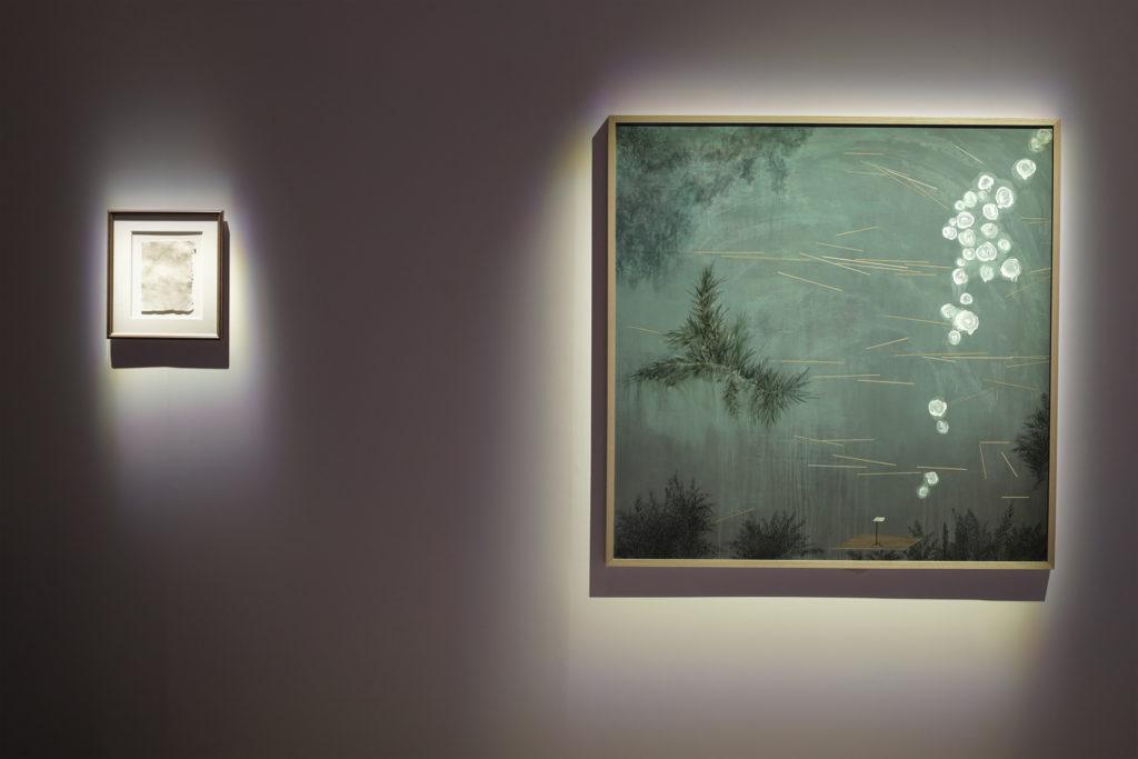 (左)曾翠薇《Uncertainty 不確定》, 2009 (右)John Cage《Variations No.1》, 1987