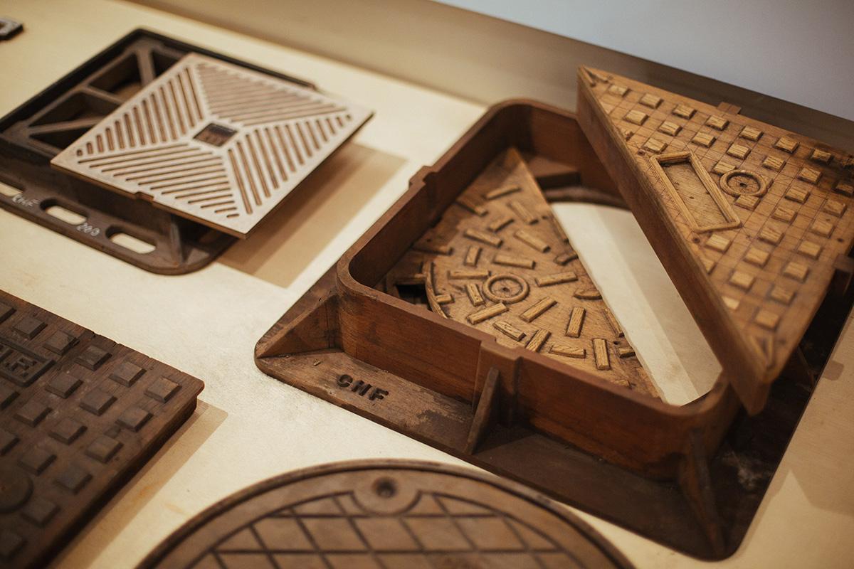 昔時鑄鐵廠會帶木製模具出席展銷會,展覽中的模具由祥興鑄鐵借出。