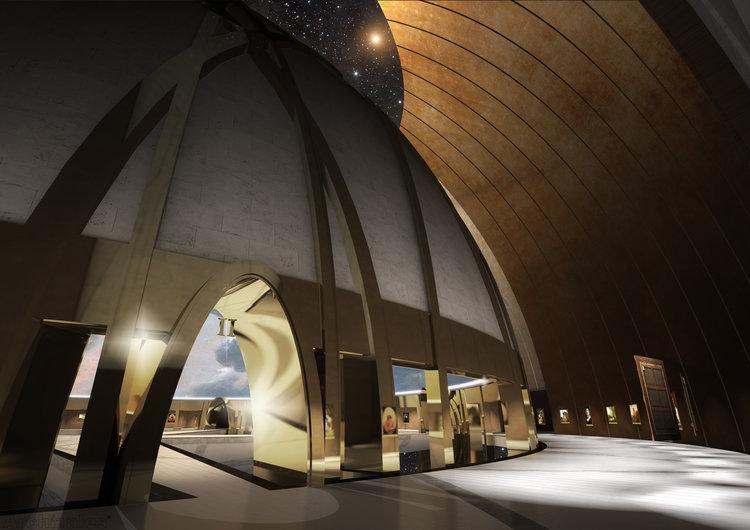 博物館外圍是掛滿畫作的環形畫廊。