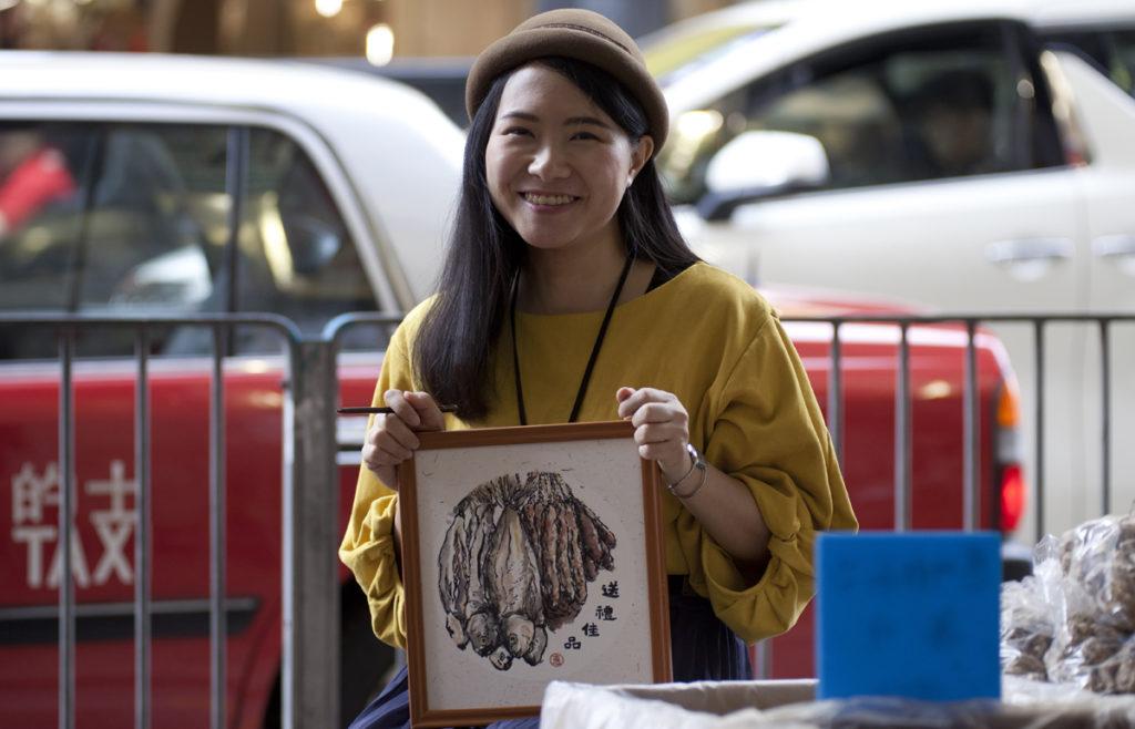 插畫家慧惠回到油麻地原點速畫城市,從畫中發掘身邊事。