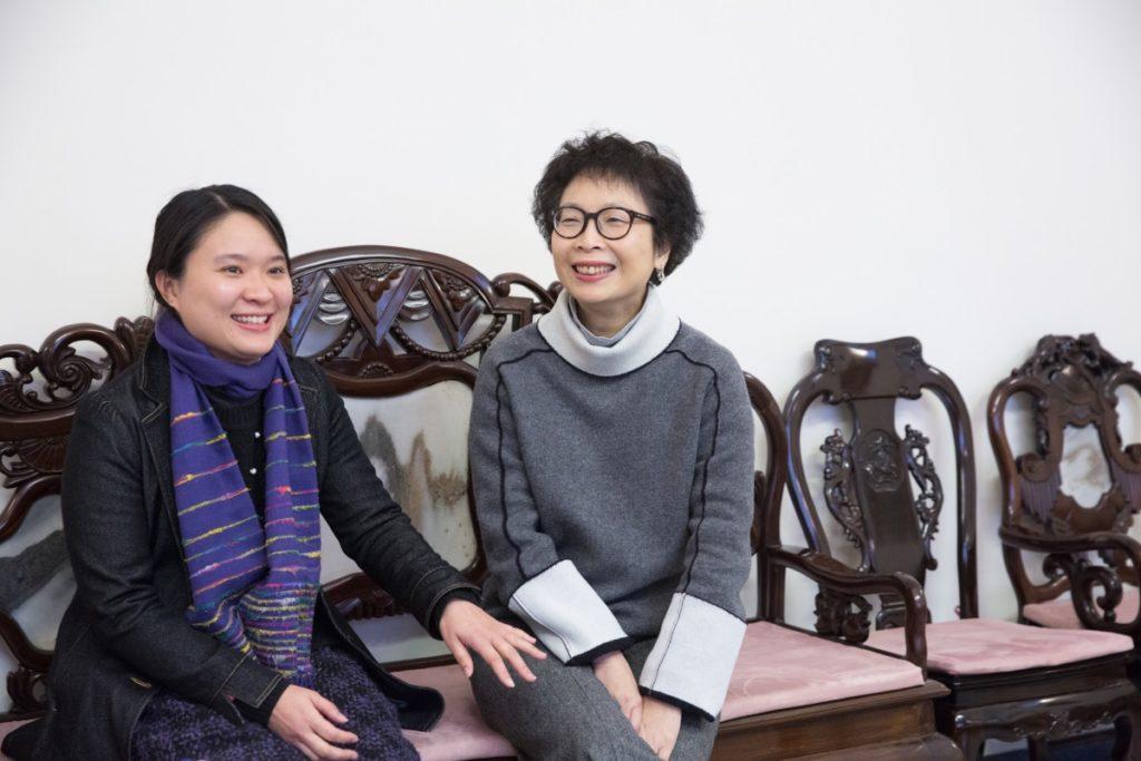 兩位現任副校長,余曉嵐(左)與鮑家寶,她們同為德望舊生。