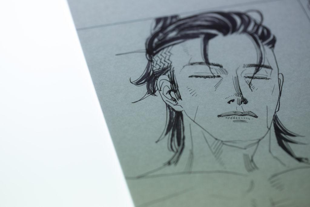 江記習慣先以鋼筆起稿再用電腦加工,從細緻的動畫手稿,已可見一絲不苟的態度。