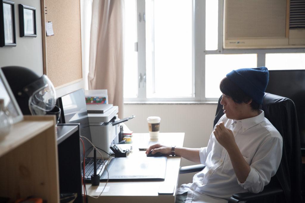 吳啟忠以製作自己的動畫電影為奮鬥目標,「我相信香港動畫會有收割的一日。」