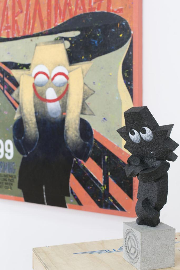 這次展覽展出超過40件平面及立體作品,都是由他重新創作和製造的,與以往的作品風格迥異。