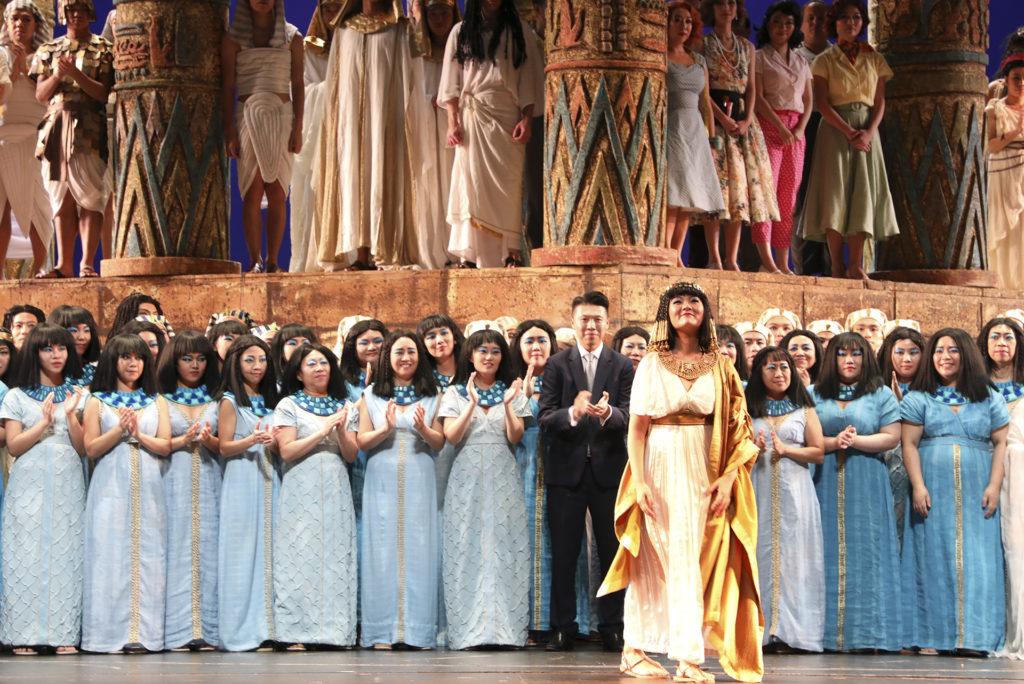 2017年,林穎穎在歌劇《阿伊達》中飾演女祭司一角。(相片由受訪者提供)