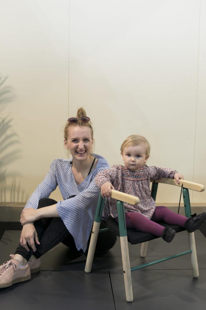 設計師Dorja Benussi早在生女兒前,已開始進行孩童家具Tink Things的設計,女兒就是她第一個用家。
