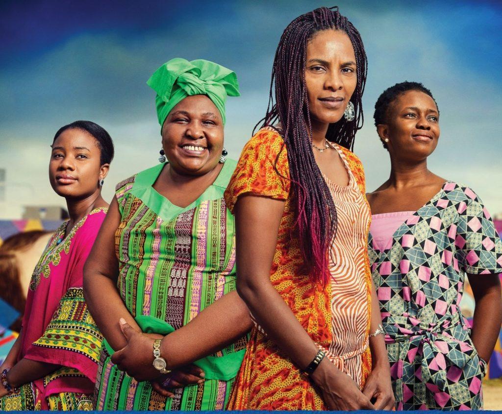 紀錄片《Baulkham Hills African Ladies Troupe》海報(左起)Yarrie, Rosemary, Yordy, Aminata。
