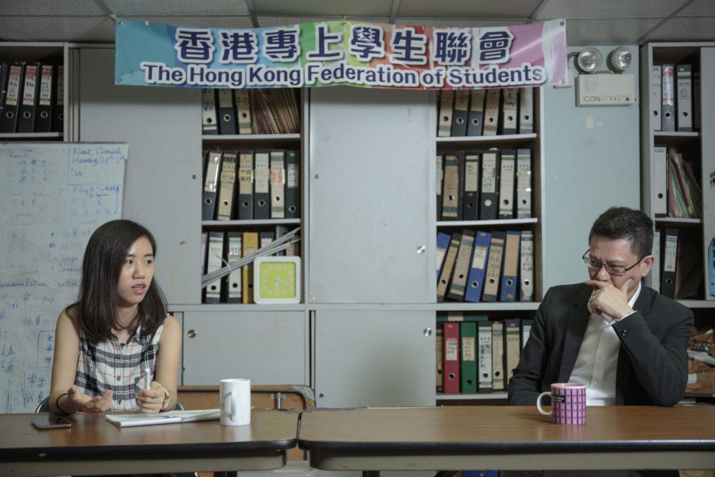 兩代學聯學生:張倩盈(左)與陶君行(右)