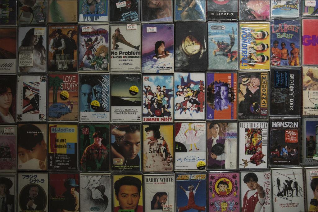 Davy經常到訪日韓不同的二手唱片店,收集有趣又便宜的卡式帶。
