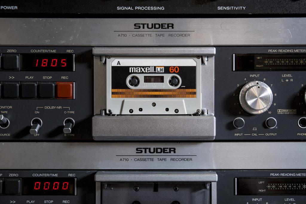 對發燒友而言,優質的裝備不能少!這台Studer A710卡式錄音機是唱片錄音室的專用機器。為方便監製工作,設計上也沒有蓋子。