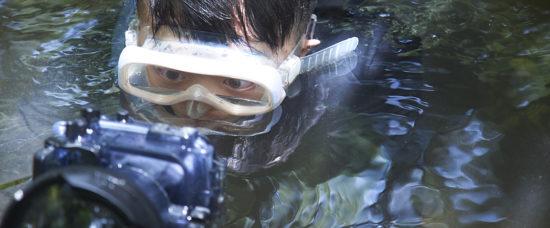 阿城正準備新一集《Wild Hong Kong》,今次將以香港鬥魚為主角,所以要潛水拍攝。