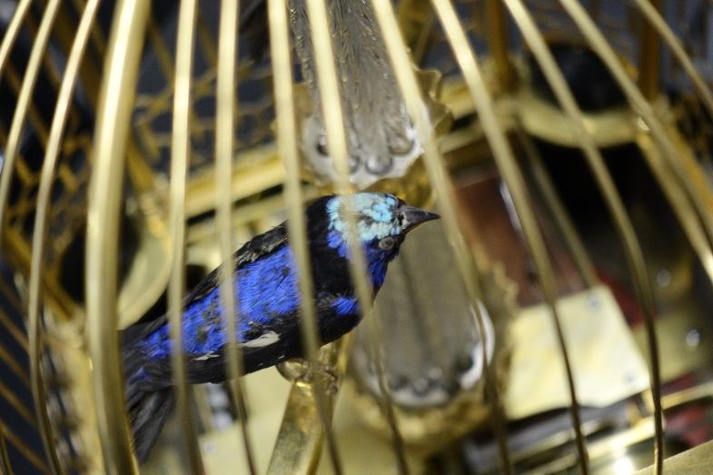 吊鐘內的雀鳥標已有接近三百年歷史