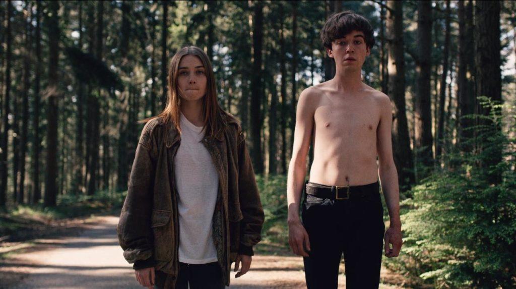 英劇《The End of the F***ing World》,男主角James約會女主角Alyssa,最初只為把對方殺死。(劇照)