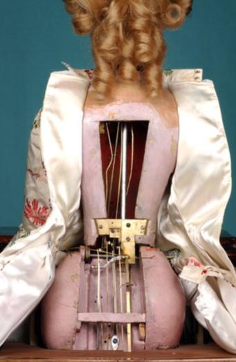 透過複雜的內部零件結構,「音樂家」既有奏樂能力,亦具有呼吸節奏。