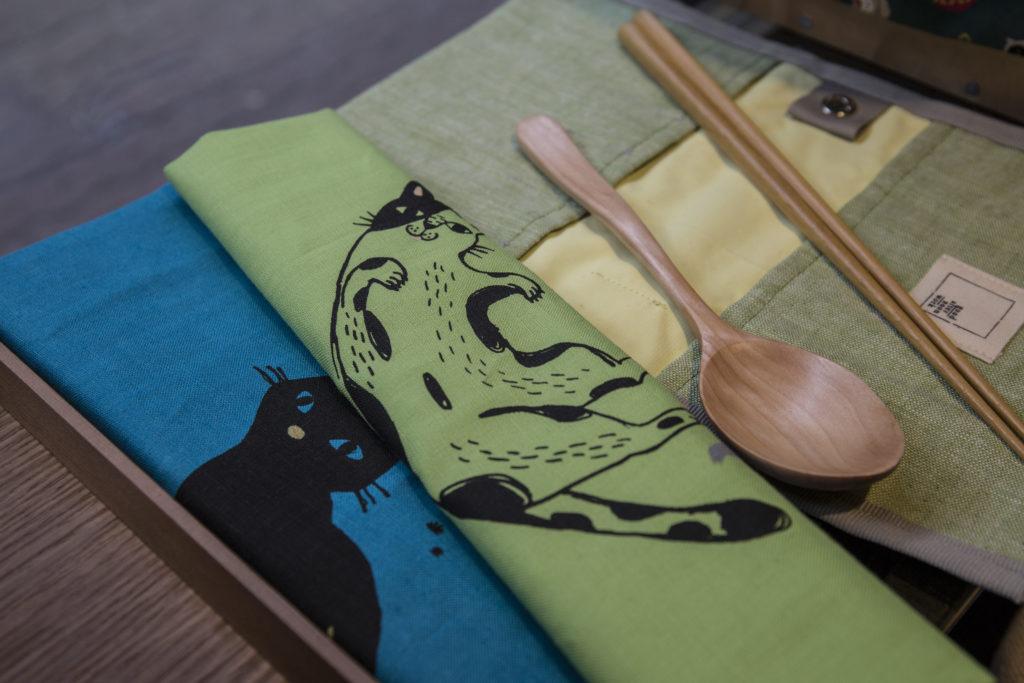Goodafternoonwork X PearlCatCat環保餐具布包套裝 約$ 178