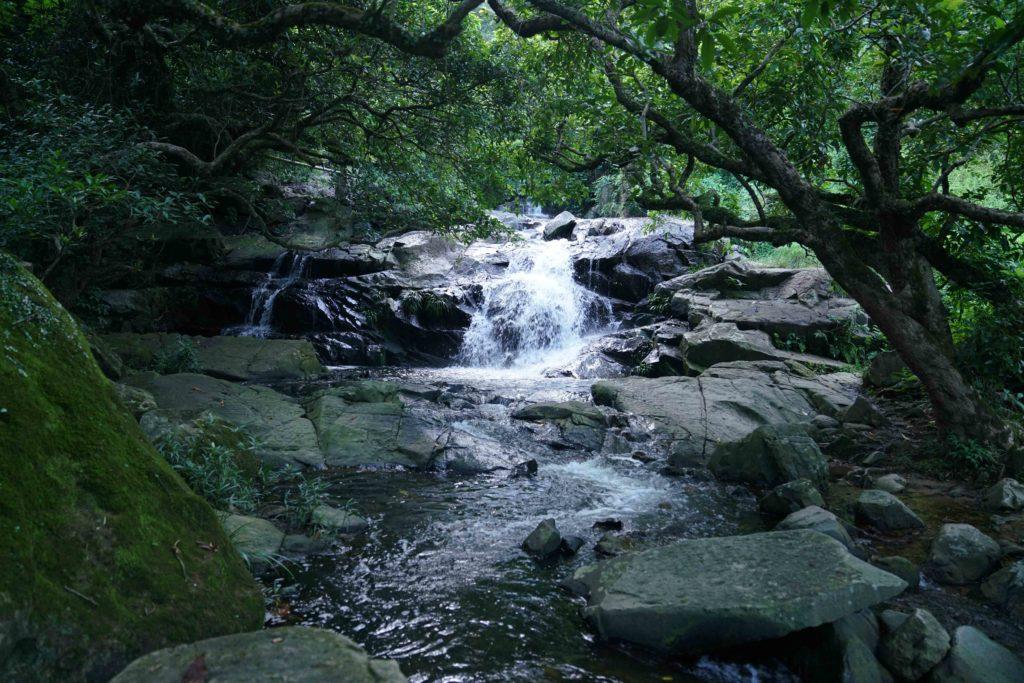 山徑原來有兩百年歷史,前人更將蓄水池改建成泳池。