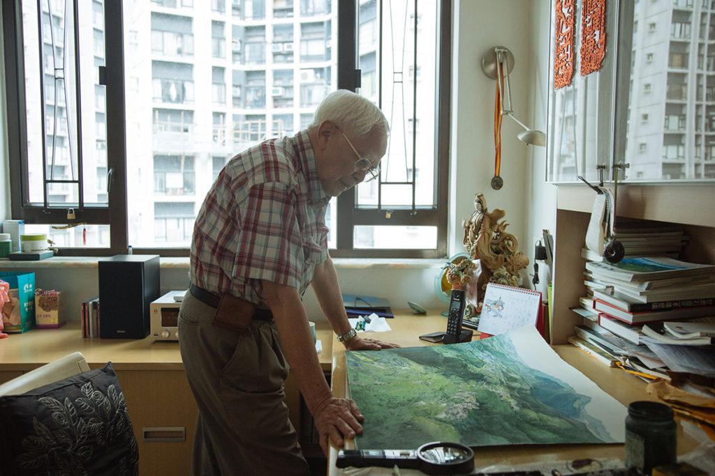 江啟明現年86歲,他自言自出道以來就是獨行俠,不埋堆,不入畫會,這條創作路註定不易走。