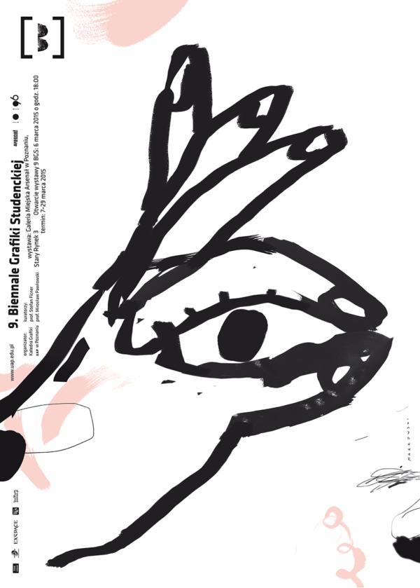 波蘭設計師Marcin Markowski海報作品 - 9th Biennial of Graphic Art Student(2015)