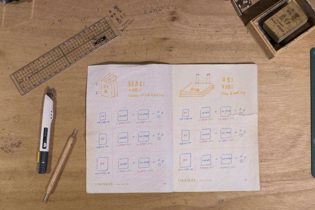 品墨良行讓客人可以訂製筆記本