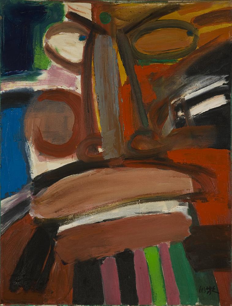 嚴以敬的油畫色彩綻放,曾有繪巨型油畫的慾望,甚至租過車房作畫。(圖片由Metta Fine Arts Ltd.提供)