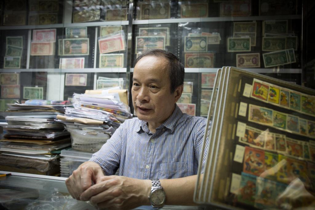 歷史學者鄭寶鴻本身也收藏古舊錢幣等等