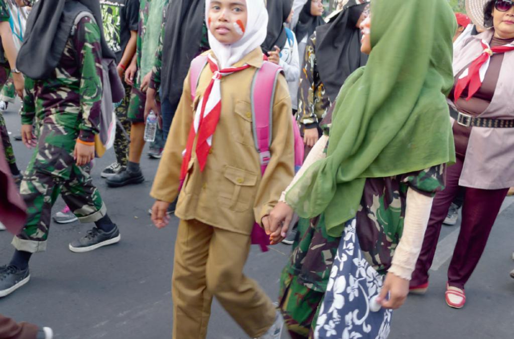 2015年11月10日,印尼泗水的英雄日巡遊。(攝影:約翰百德)