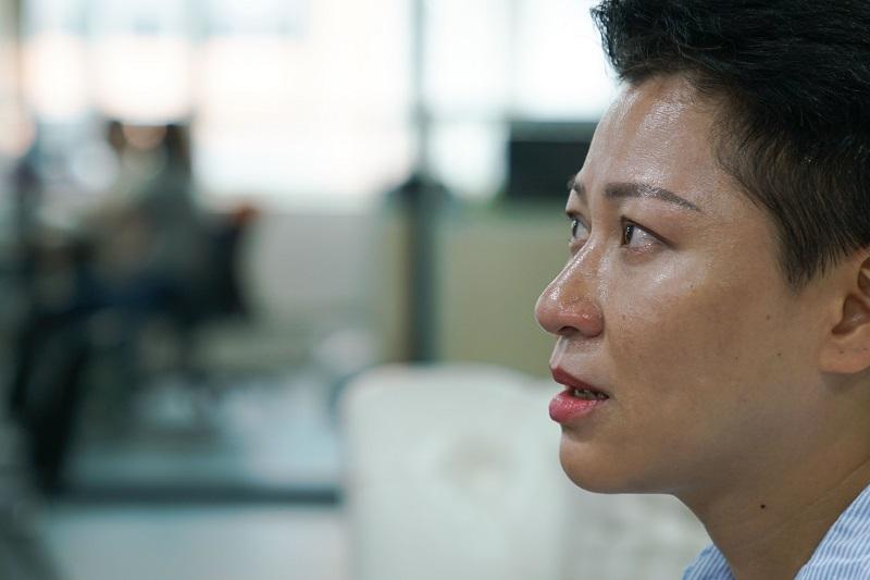 Chikia憶述割乳時的掙扎,硬朗的她,終於忍不住淚水。
