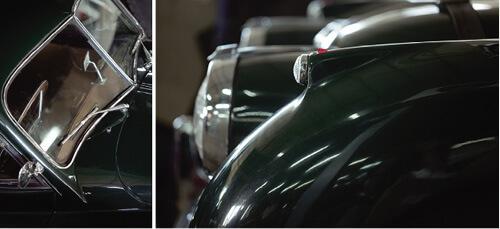 1955年的Jaguar跑車,最吸引牧哥的是隨着圓形車燈起伏的流線型車身,時速最高有220公里。牧哥特別訂造車牌56XK140,代表牧哥的出生年份,跑車型號,以及140英哩最高車速。