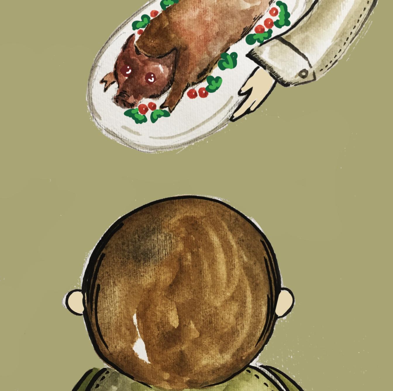有讀者表示寶寶與乳豬對望的插圖夠發人深省。Canace憶述,「某位家長曾向我說,假如沒有強調這個畫面,他是不會回想到自己一直當乳豬只是『一碟嘢』。」