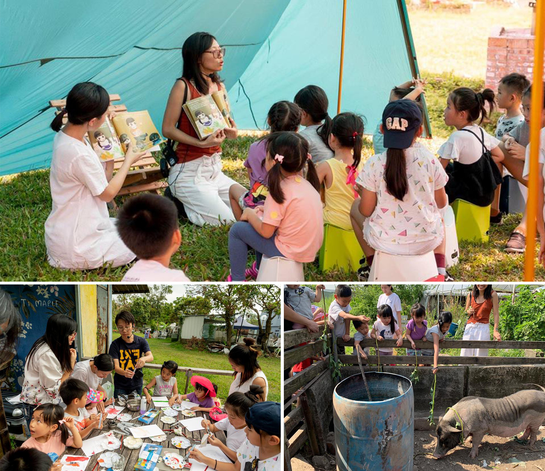 阿菁曾與不同機構合作舉辦工作坊,除了導讀環節,還有藝術創作及農場導嚮,鼓勵家長與孩子走出課室學習。